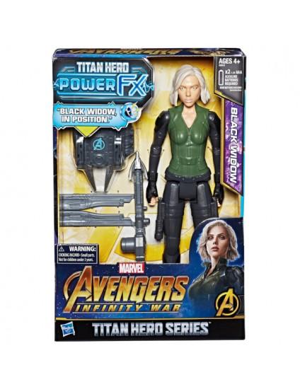 Boneca Tiran Hero Power Fx Black Widow - Hasbro