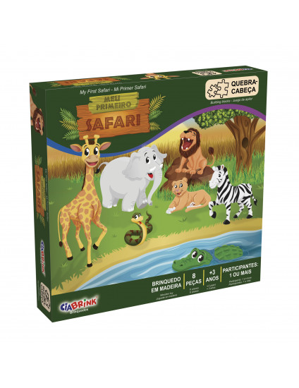 Quebra-Cabeça Meu Primeiro Safari - CiaBrink