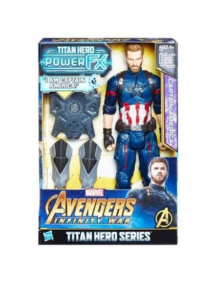 Boneco Titan Hero Power FX Capitão América - Hasbro