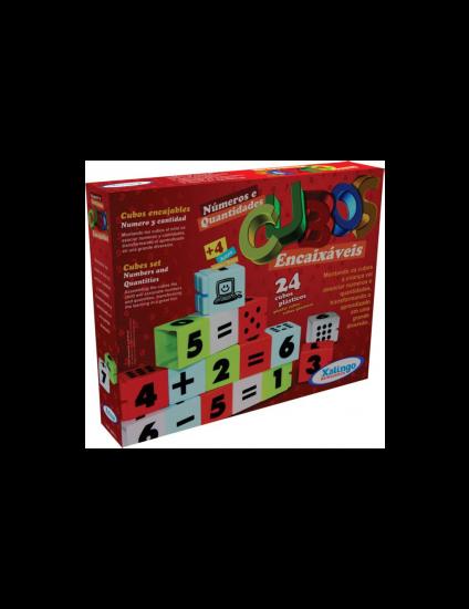 Cubos Encaixáveis Números e Quantidades