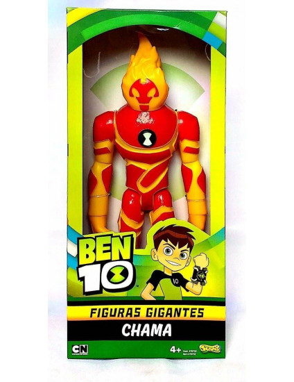 Boneco BEN 10 XL Figuras Gigantes Chama -SUNNY