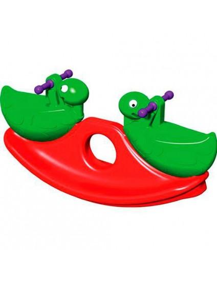 Gangorra Guga em Forma de Tartaruga Verde/Vermelha - Xalingo