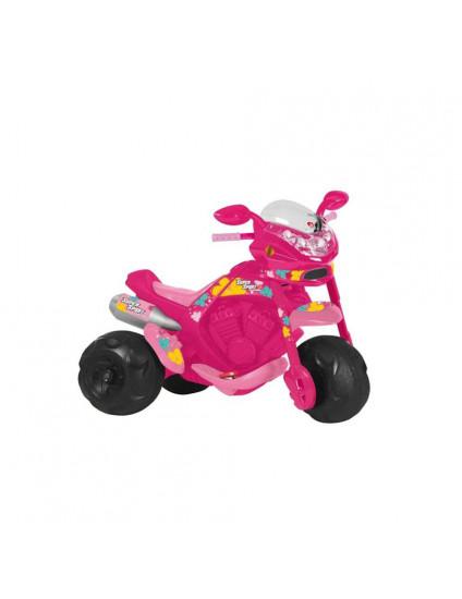 Moto Elétrica Infantil Super Sport Rosa El 6V - Bandeirante