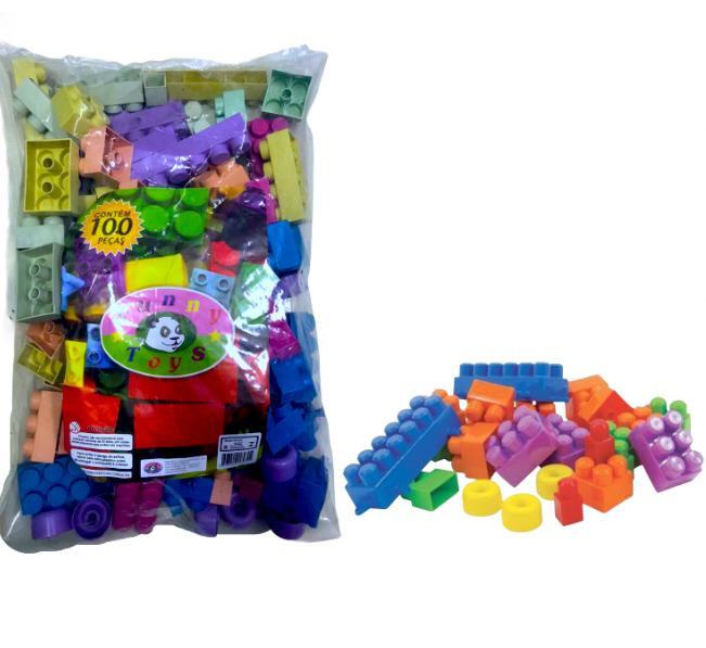 Bloco De Montar Funny Toys 100 Peças