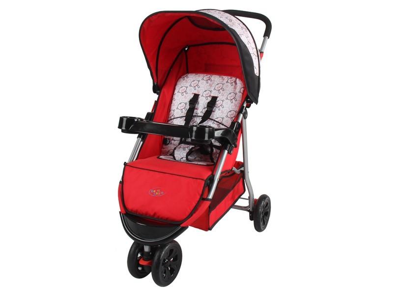 Carrinho de Bebê Junne Vermelho  - Baby Style