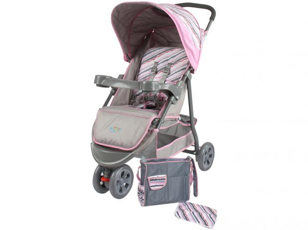 Carrinho de Bebê Junne Rosa - Baby Style