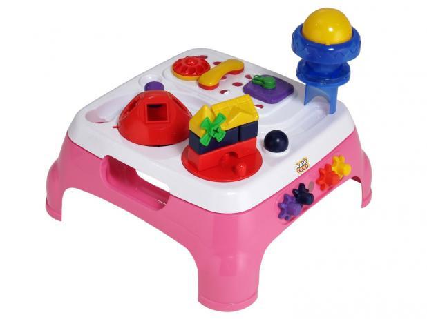 Mesa Max Atividades Rosa com Som - Magic Toys