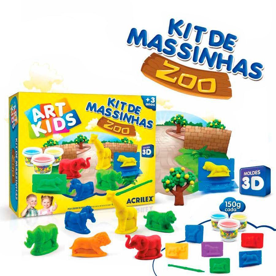 Kit de Massinha Zoo - Acrilex