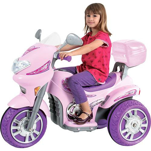Moto Elétrica Infantil 168 Sprint Custon Rosa 6V - Biemme