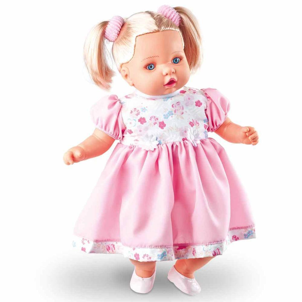 Boneca Angelina Loira 62 Frases - Milk  Brinquedos