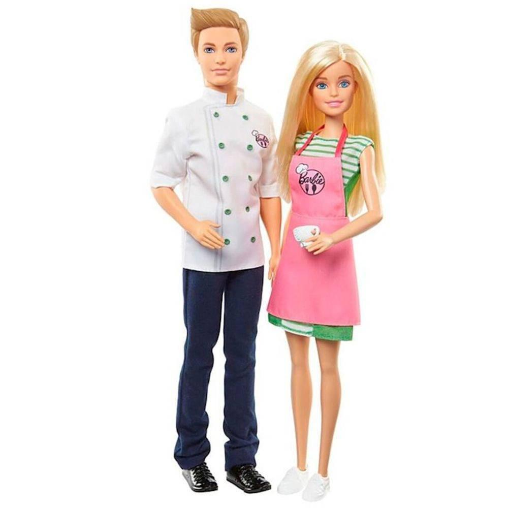 Barbie Cozinhando e Criando Barbie e Ken - Mattel