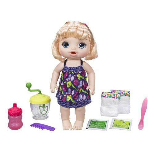 Boneca Baby Alive Papinha Divertida Loira - Hasbro