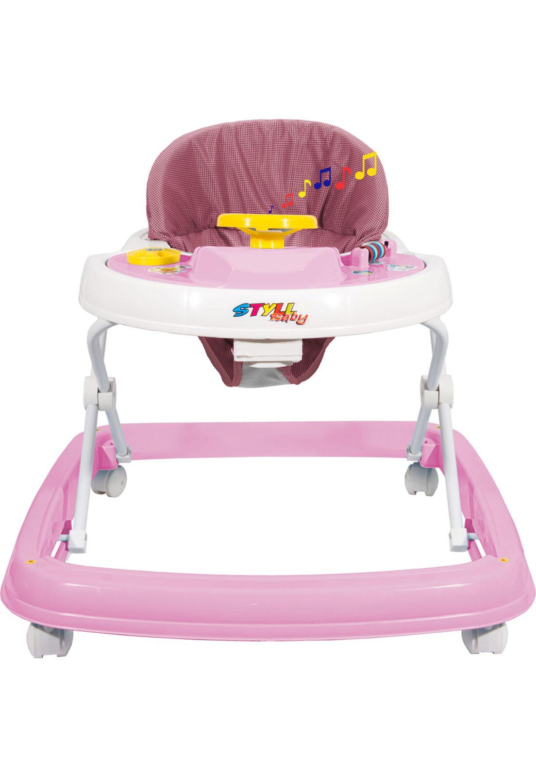 Andador Styll Baby Rosa Sonoro - StyllBaby