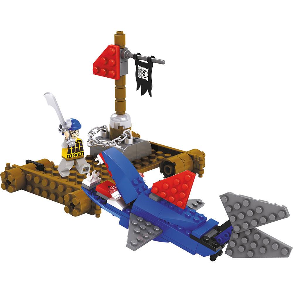 Blocos De Montar Com 100 Peças Ataque Pirata - Dm Toys