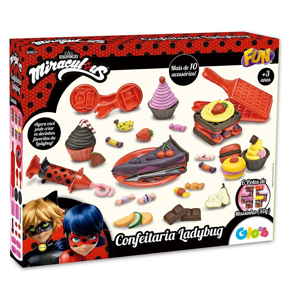 Massinha De Modelar Miraculous Ladybug Confeitaria - Fun