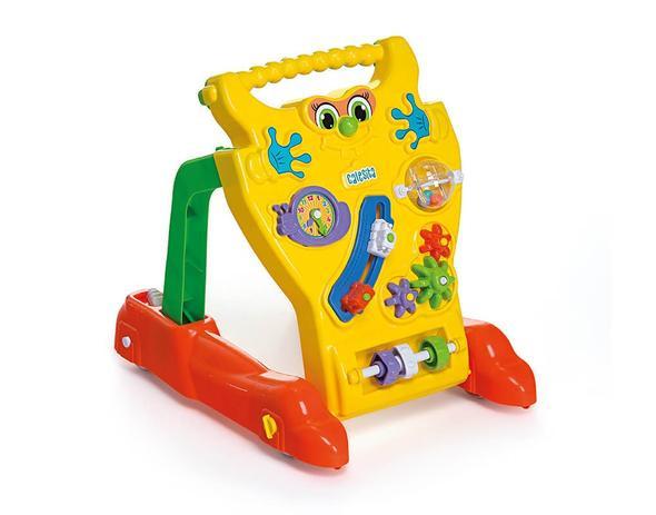 Andador Feliz Brinquedo Educativo Bebê Calesita Ref 902 Amarelo