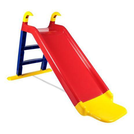 Escorregador Infantil Com Apoio Amarelo/Azul/Vermelho - Bel Brink