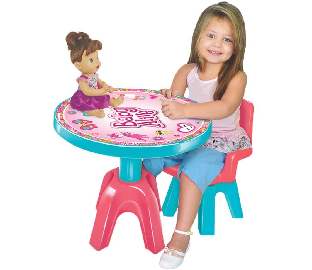 Mesa com Cadeira Infantil Baby Alive - Lider