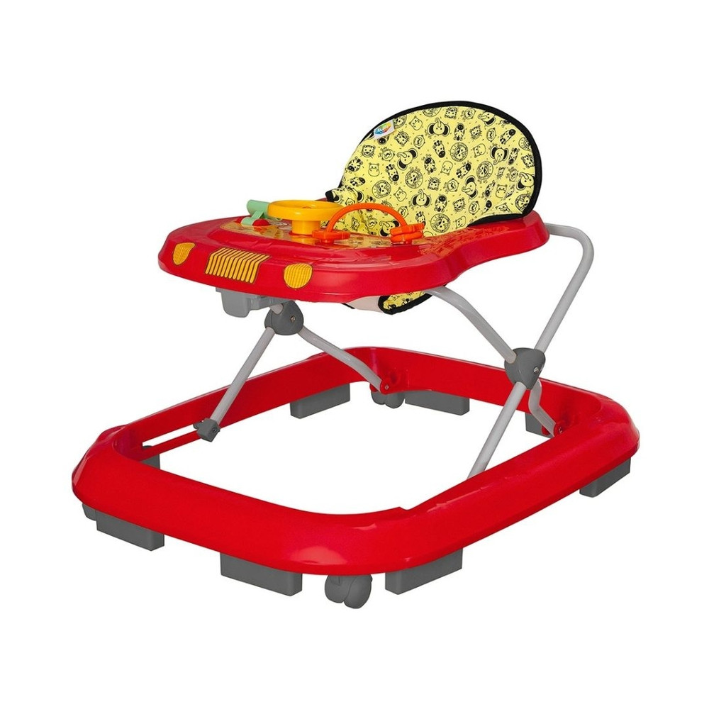 Andador Toy Vermelho Safari - Tutti baby