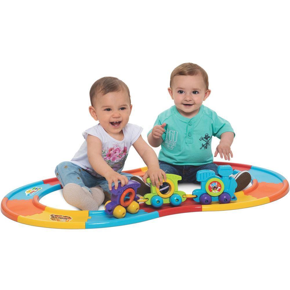 Brinquedo Babytrain Express 12 Trilhos - MercoToys