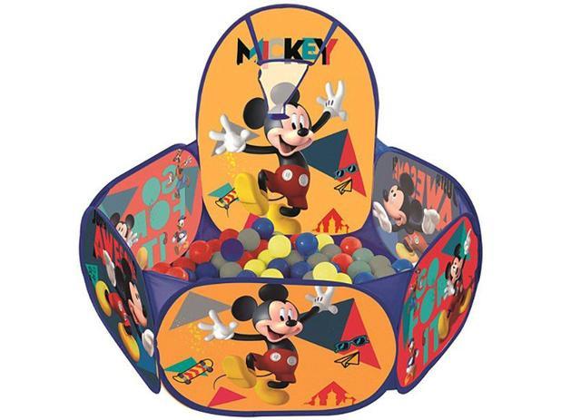 Piscina de Bolinha Mickey Disney com Cesta - 100 Bolinhas Zippy Toys