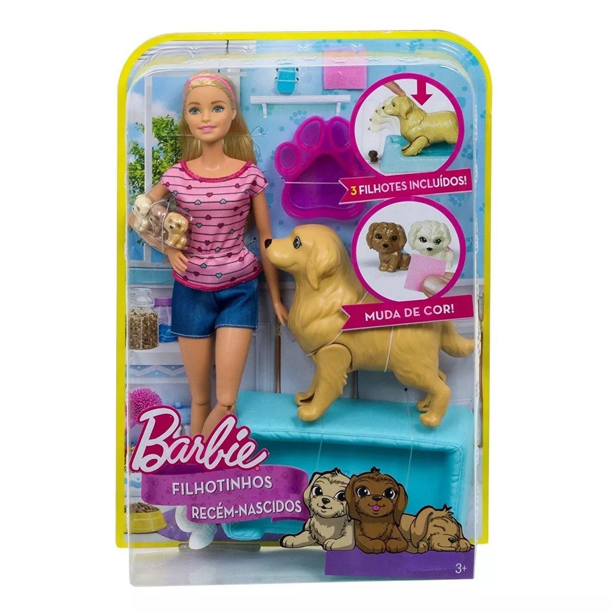 Boneca Barbie Filhotinhos Recém - Nascidos - Mattel