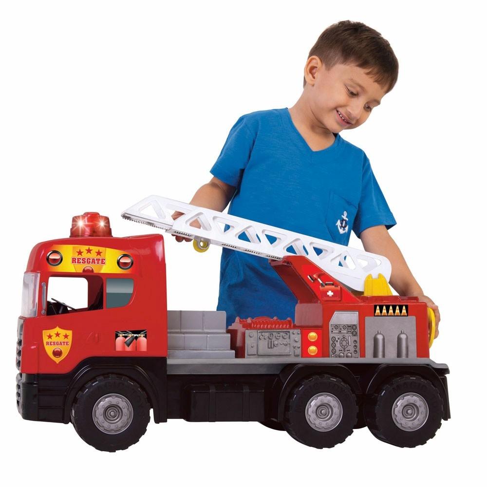 Caminhão Super Bombeiro Magic Toys
