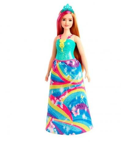 Barbie Dreamtopia - Boneca Princesa Loira - Vestido Arco-Íris Gjk12