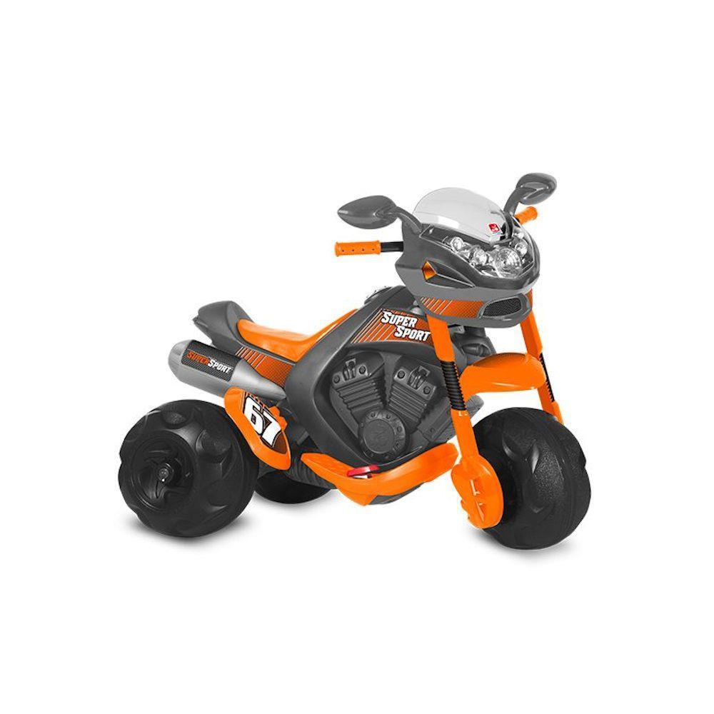 Moto Super Sport Elétrica Cinza 6V - BANDEIRANTE