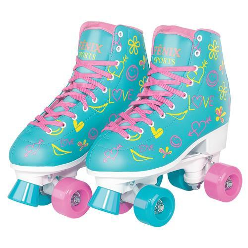 Brinquedo Infantil Patins Roller Com 04 Rodas Ajustável RL07 35 ao 38 - Fenix