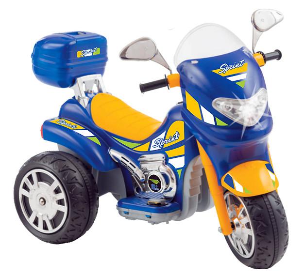 Moto Elétrica Sprint Turbo Azul 12V C/Capacete 671 - BIEME