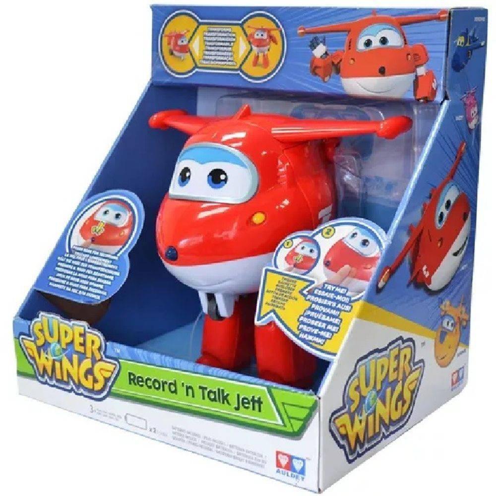 Boneco Super Wings Jett Grava e Fala Ref. 8241-6 Fun Divirta-se