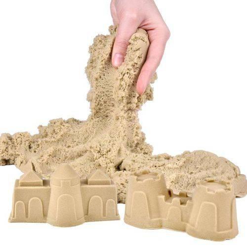 Massa Areia Marrom 1,36kg Kinetic Sand - Sunny