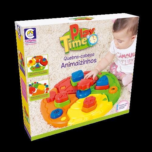 Quebra Cabeça Animaizinhos - Play Time