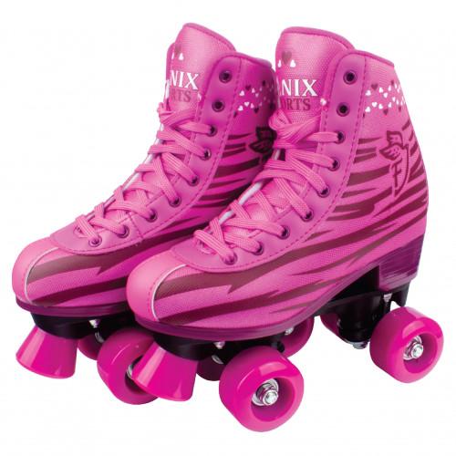 Patins Roller Skate Rosa - Fenix 34 ao 35