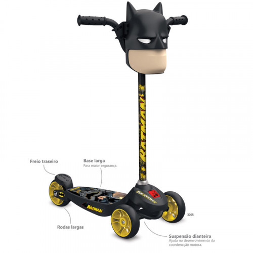 PATINETE SKATENET KID BATMAN - 3205 - BANDEIRANTE