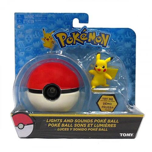 Pokémon Pokébola Com Luz E Som e Figura Pikachu - Sunny