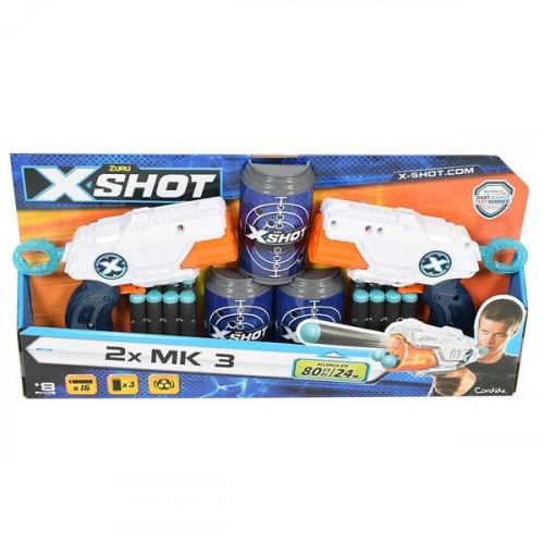 Lançador de Dardos X Shot 2x Barrel Breaker TK-3 Com Alvos- Candide