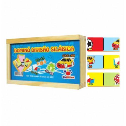Jogo Domino Divisão Silabica com 28 pecas em Mdf  - Ciabrink
