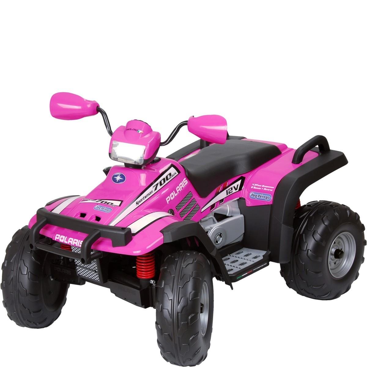 Quadriciclo Polaris Sportsman Pink - 12V