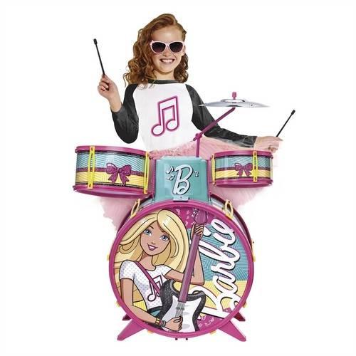 Bateria infantil Musical  Barbie Glamourosa - fun