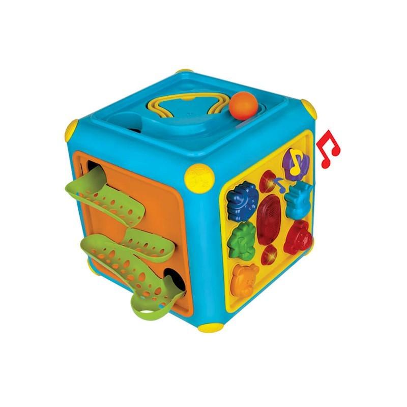 Cubo gigante atividades com som e toboga - Magic Toys