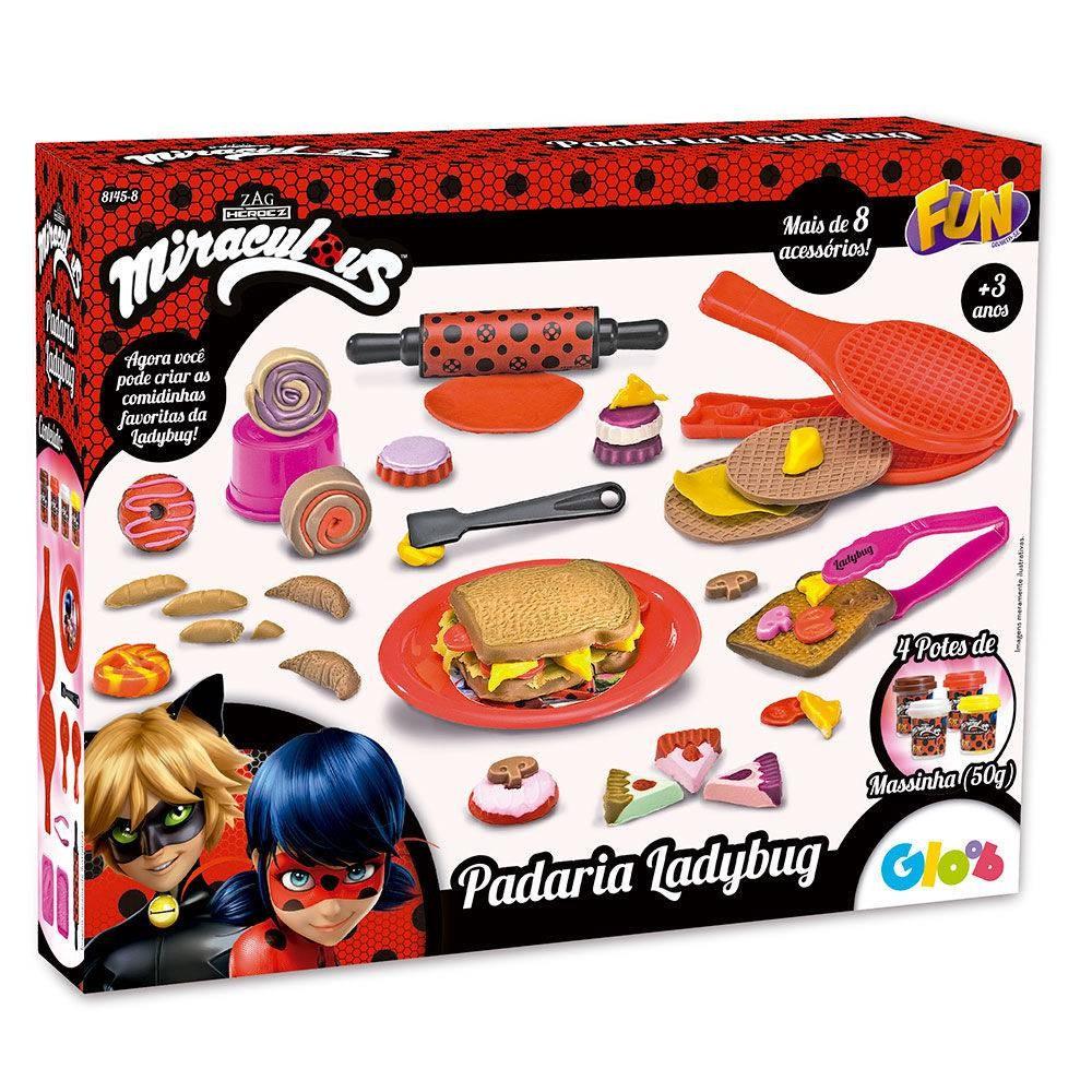 Massinha De Modelar Miraculous Ladybug Padaria - Fun Divirta-se