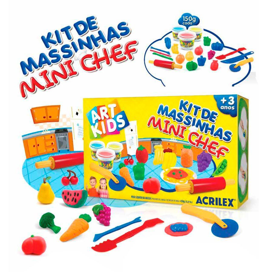 Kit de Massinhas Mini Chef - Acrilex