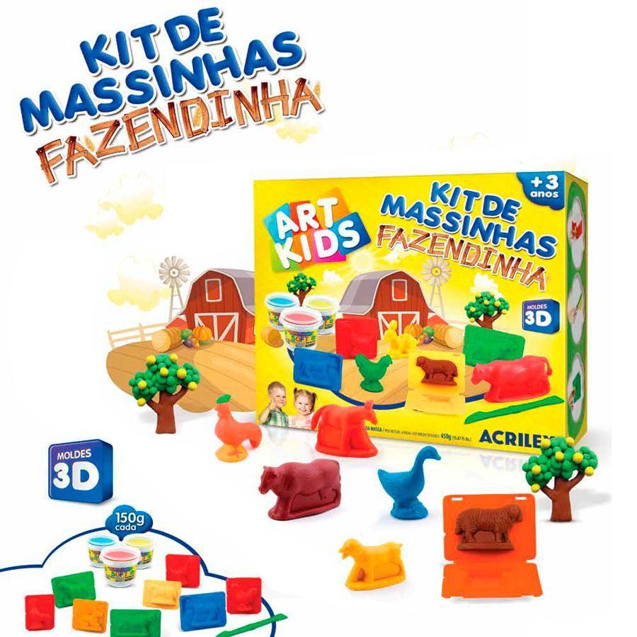 Kit de Massinhas Fazendinha - Acrilex