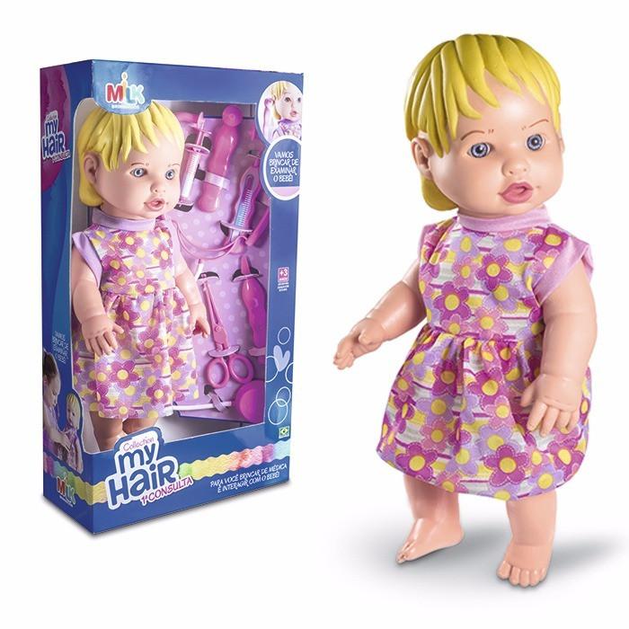 Boneca My Hair 1º Consulta Com Acessórios - Milk brinquedos