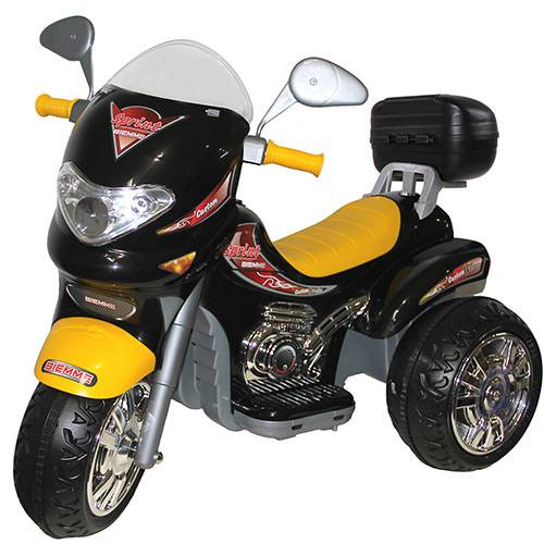 Moto Elétrica Infantil Sprint Custon Preto 6V - Biemme
