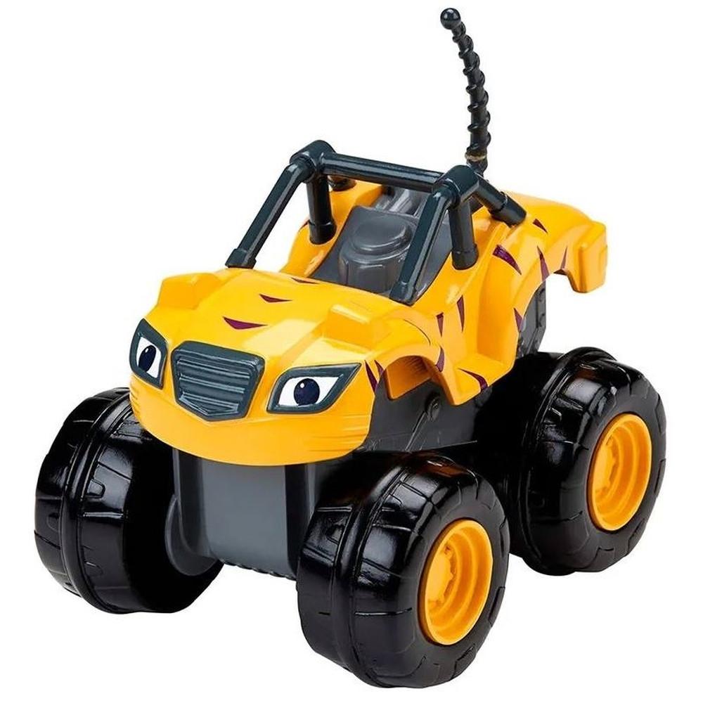 Veiculo Blaze - Turbo Slam Go - Amarelo - Acelerador Stripes - Fisher-Price - CGK22