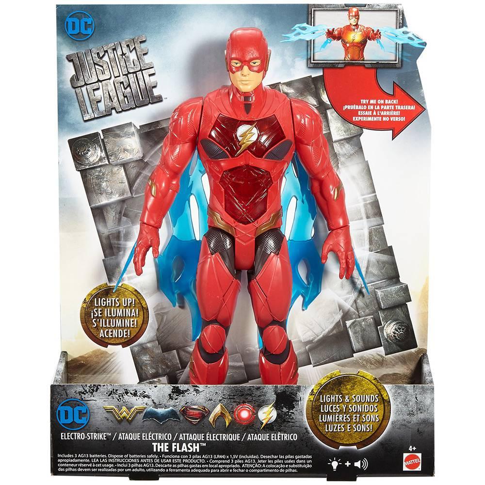 Boneco Eature Figure The Flash Ataque Eletrico - Mattel