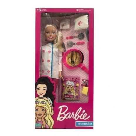 Boneca Barbie CHEF 65CM com Acessorios Pupee